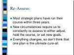 re assess