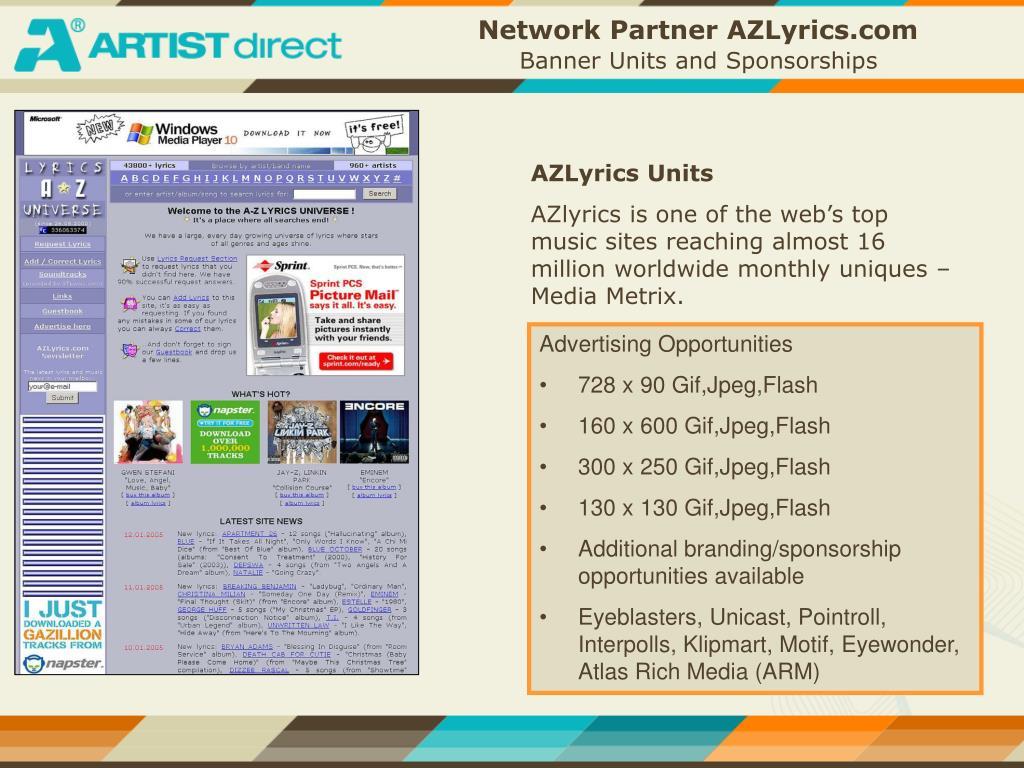 Network Partner AZLyrics.com