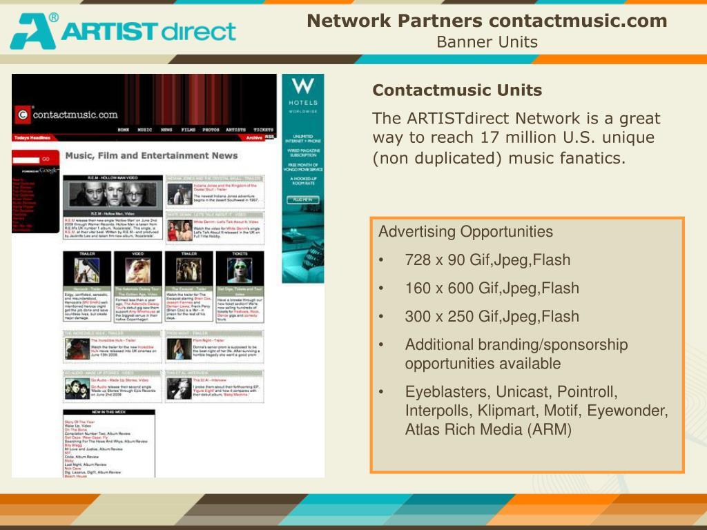 Network Partners contactmusic.com