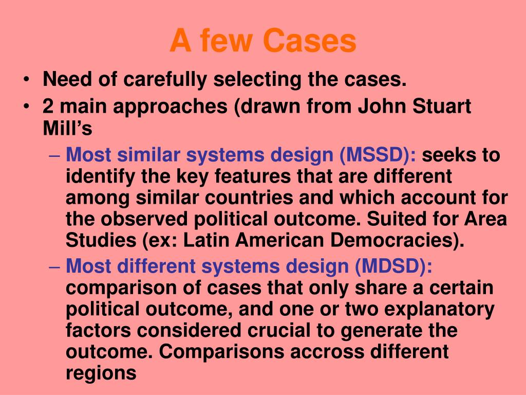 A few Cases