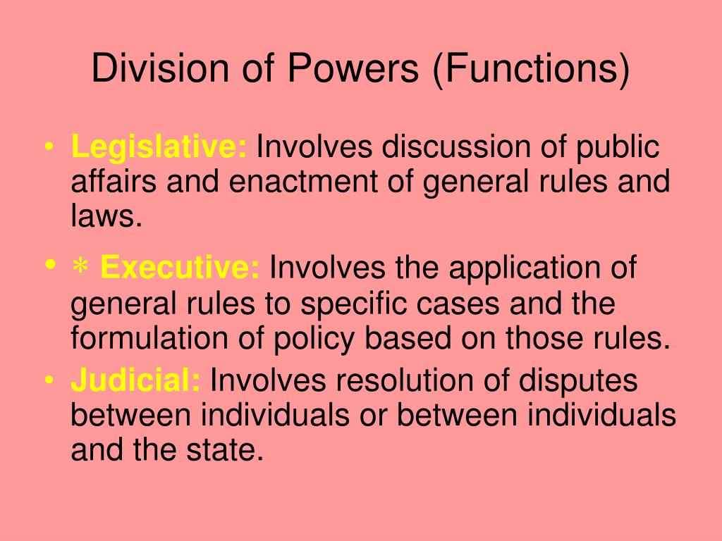Division of Powers (Functions)