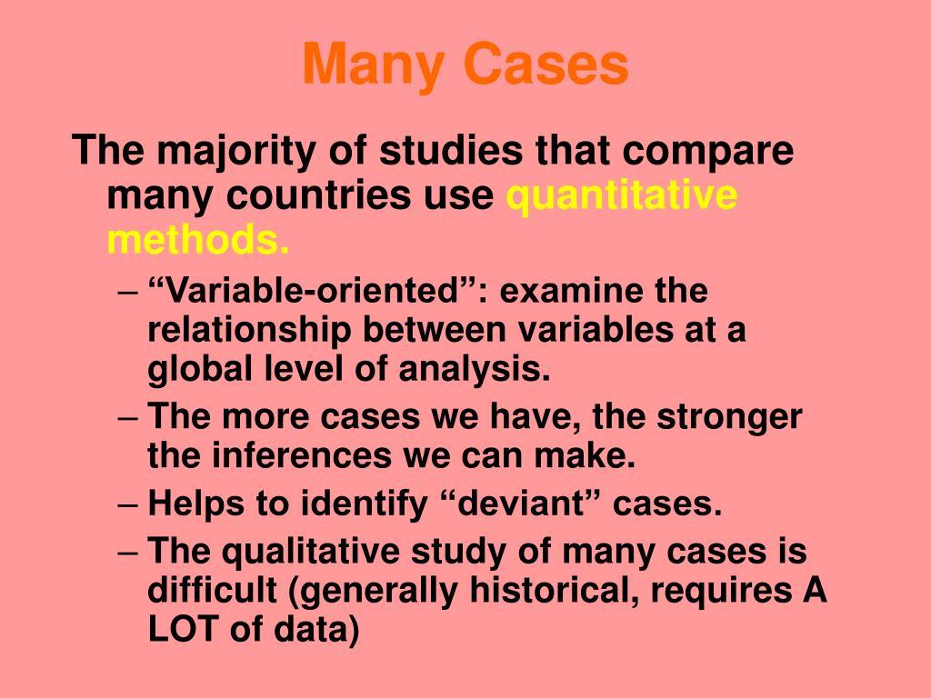 Many Cases