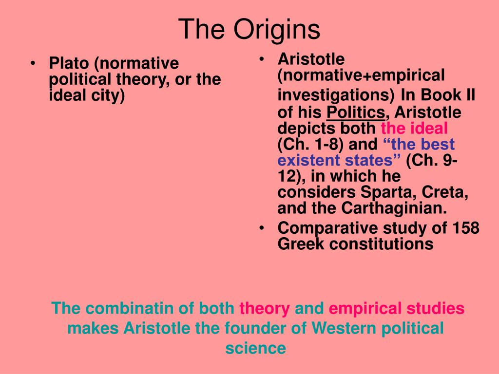 Plato (normative political theory, or the ideal city)