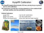 hyspiri calibration