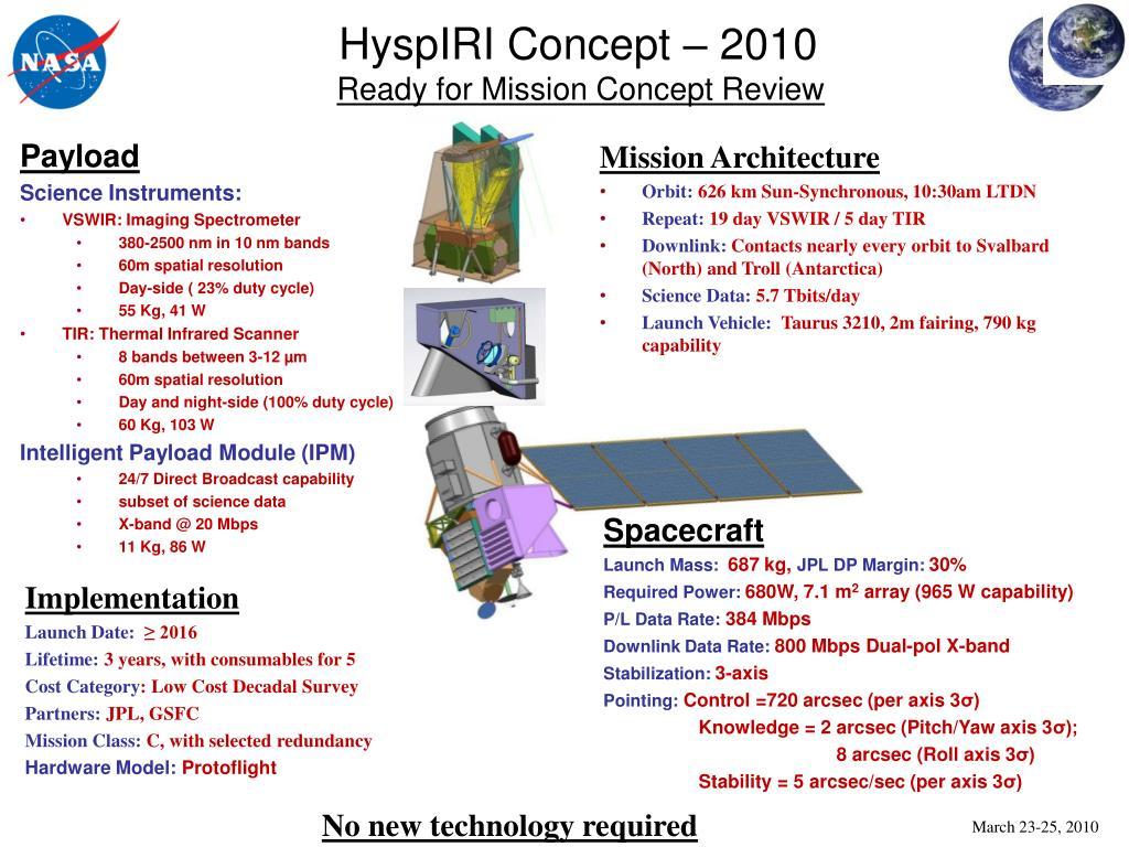 HyspIRI Concept – 2010