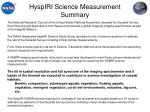 hyspiri science measurement summary
