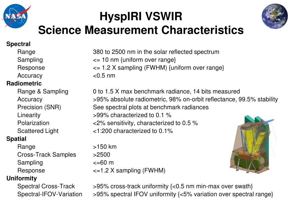 HyspIRI VSWIR