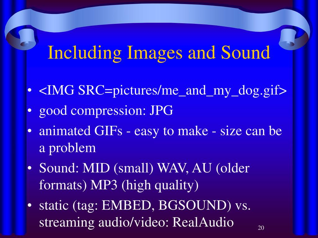 Including Images and Sound