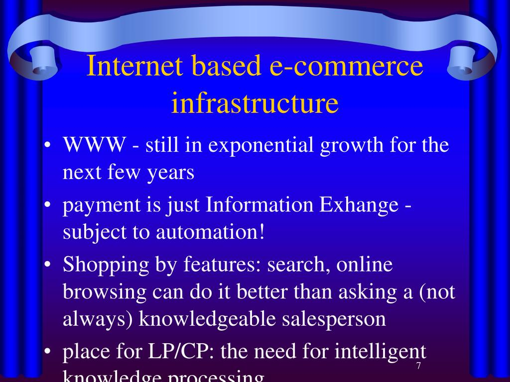 Internet based e-commerce infrastructure