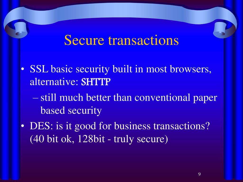 Secure transactions