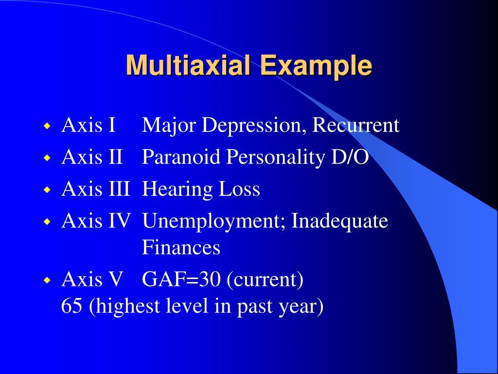 Multiaxial Example