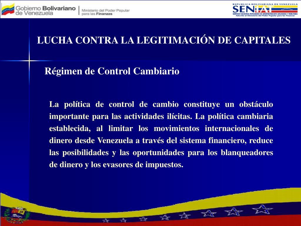 LUCHA CONTRA LA LEGITIMACIÓN DE CAPITALES