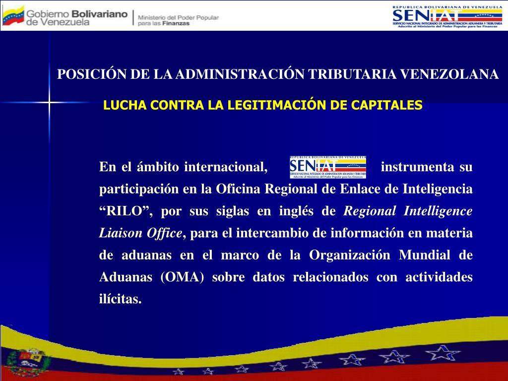 POSICIÓN DE LA ADMINISTRACIÓN TRIBUTARIA VENEZOLANA