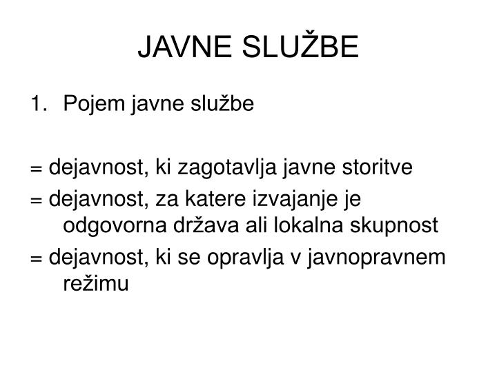 Javne slu be