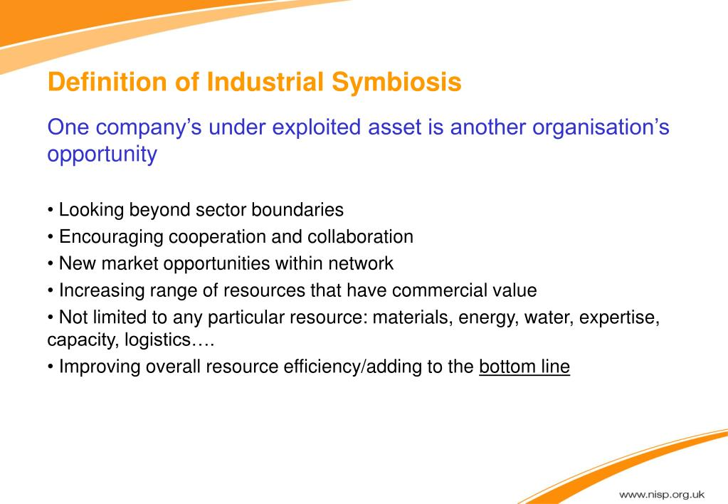 Definition of Industrial Symbiosis