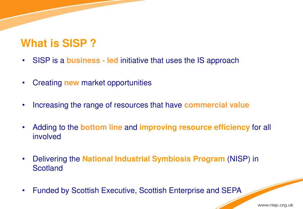 What is SISP ?