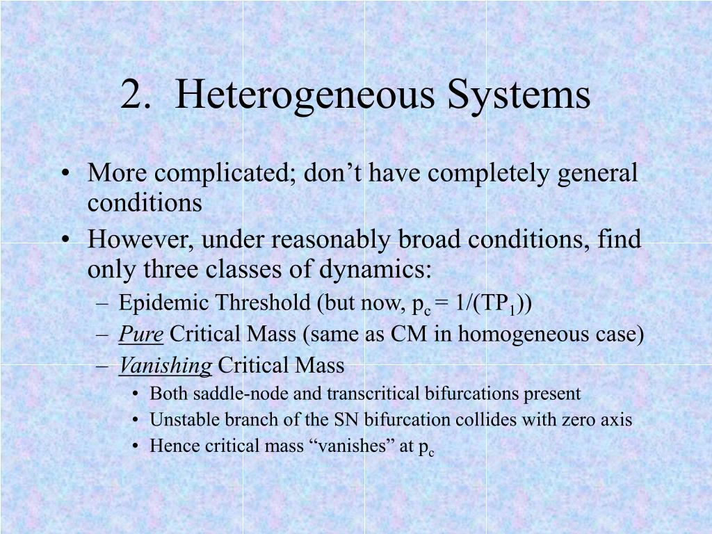 2.  Heterogeneous Systems