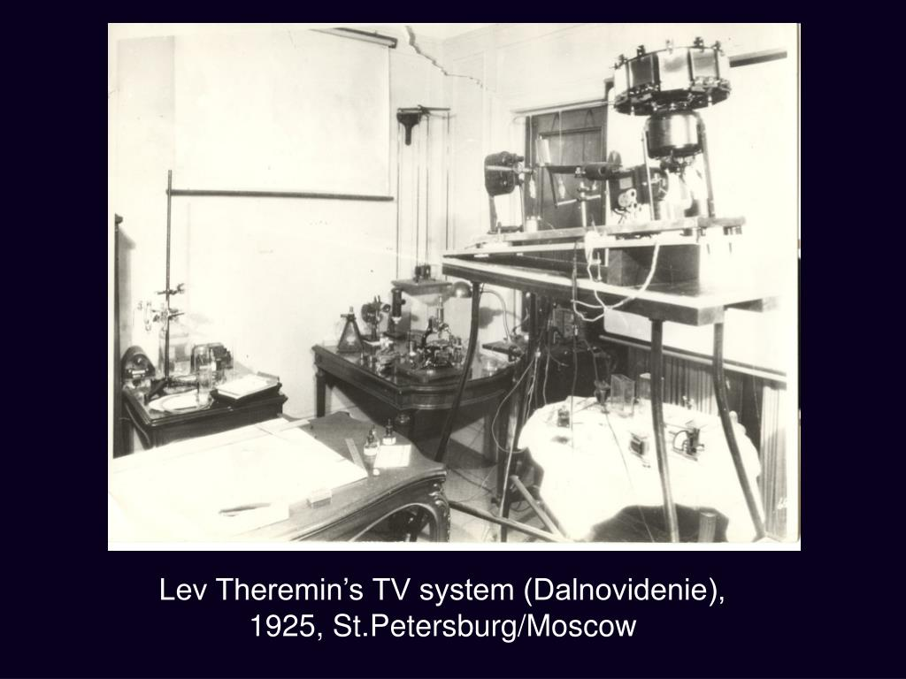 Lev Theremin's TV system (Dalnovidenie), 1925, St.Petersburg/Moscow
