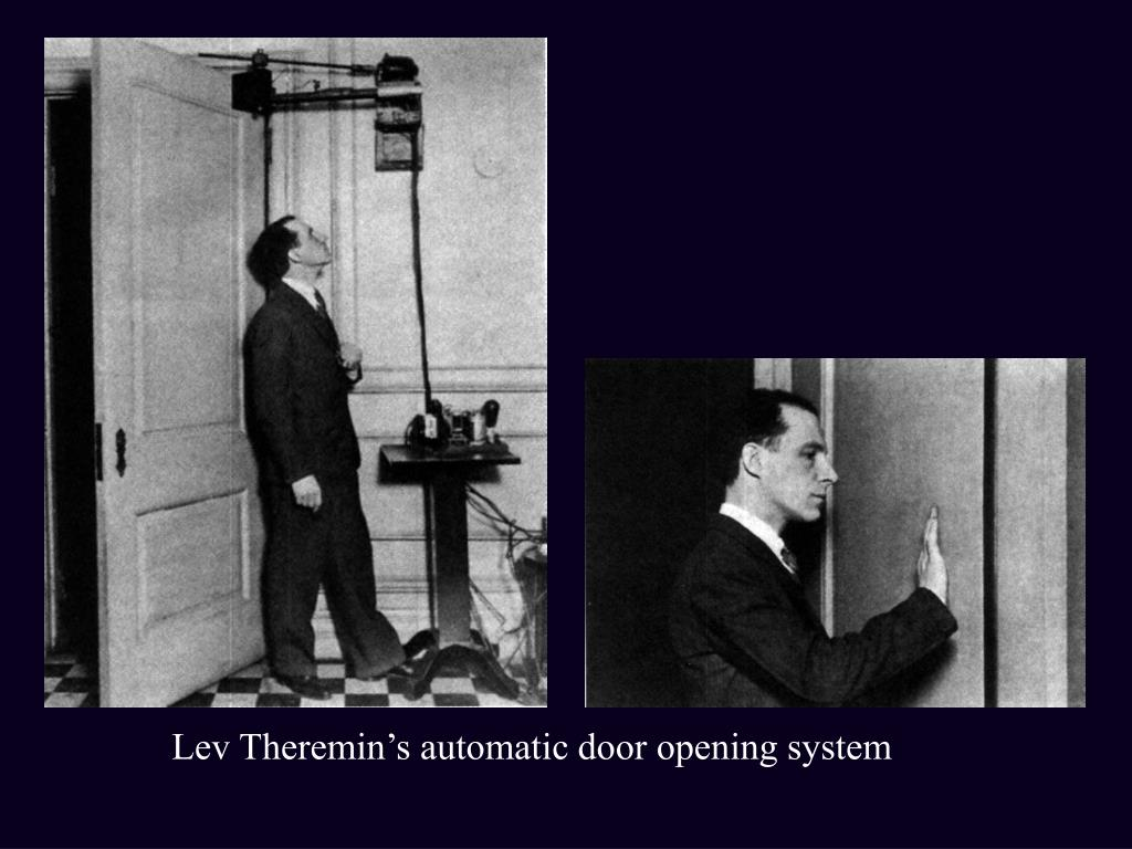 Lev Theremin's automatic door opening system