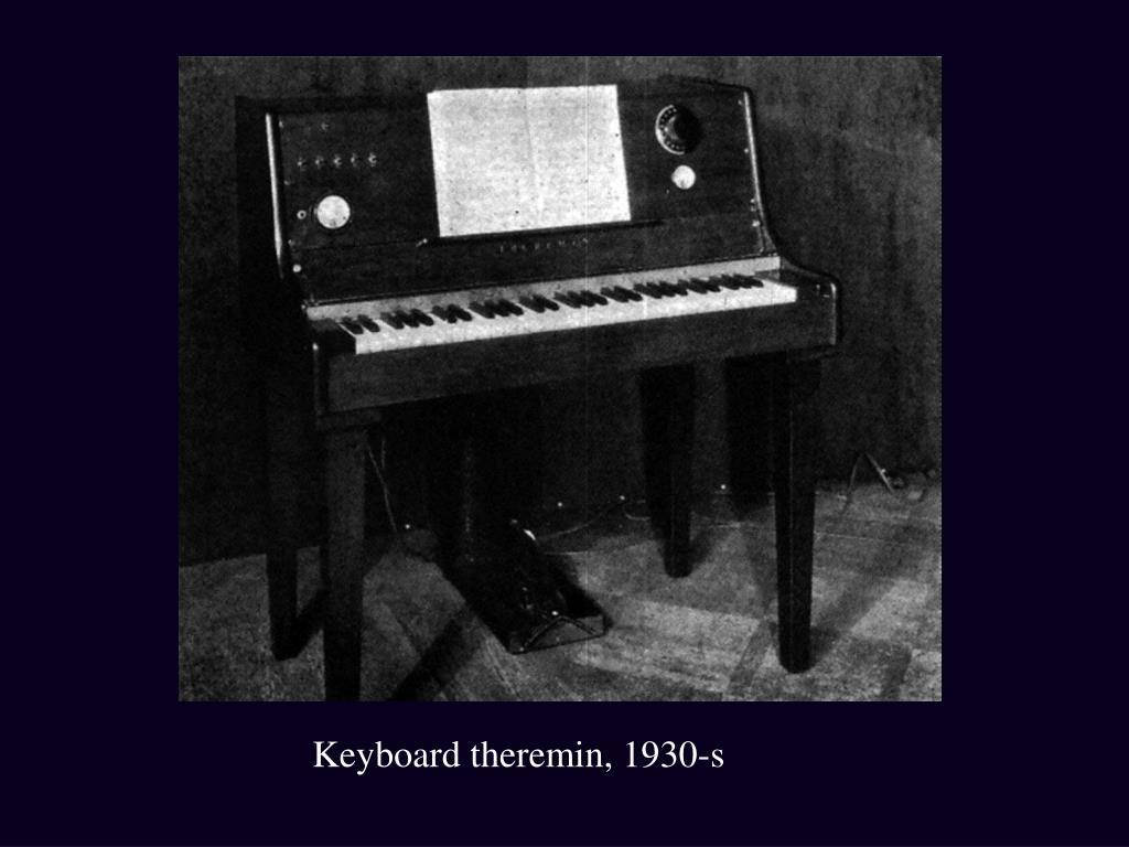 Keyboard theremin, 1930-s