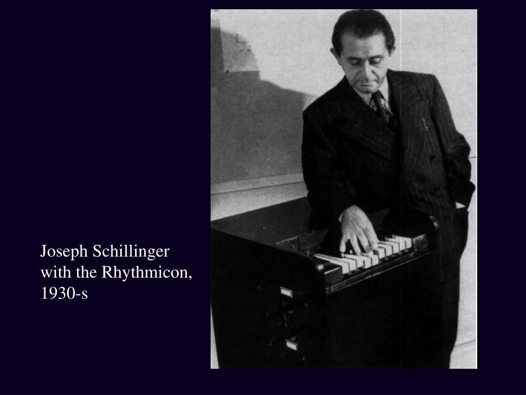 Joseph Schillinger with the Rhythmicon, 1930-s