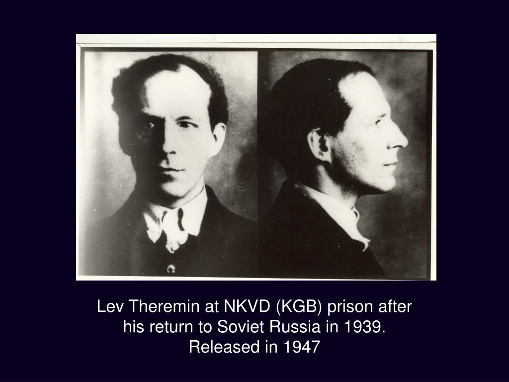 Lev Theremin at NKVD (KGB) prison after his return to Soviet Russia in 1939.
