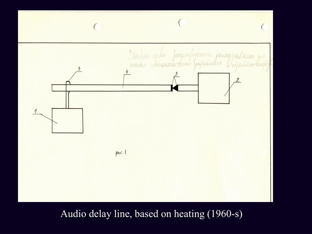 Audio delay line, based on heating (1960-s)