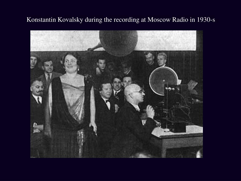 Konstantin Kovalsky during the recording at Moscow Radio in 1930-s