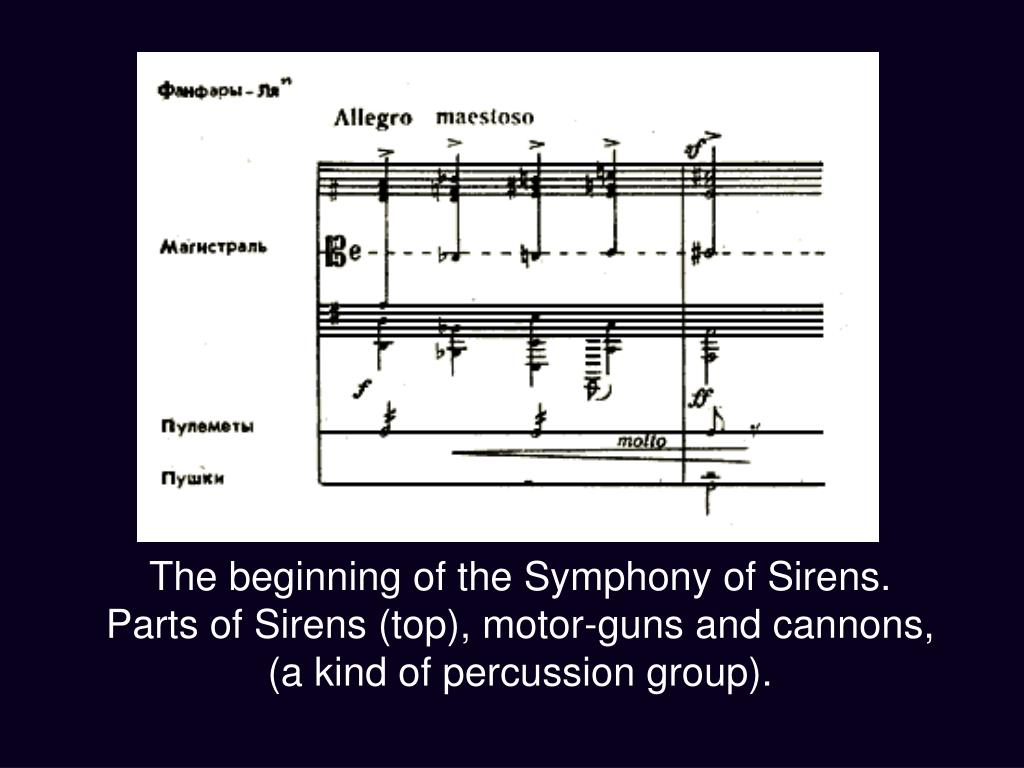 The beginning of the Symphony of Sirens.
