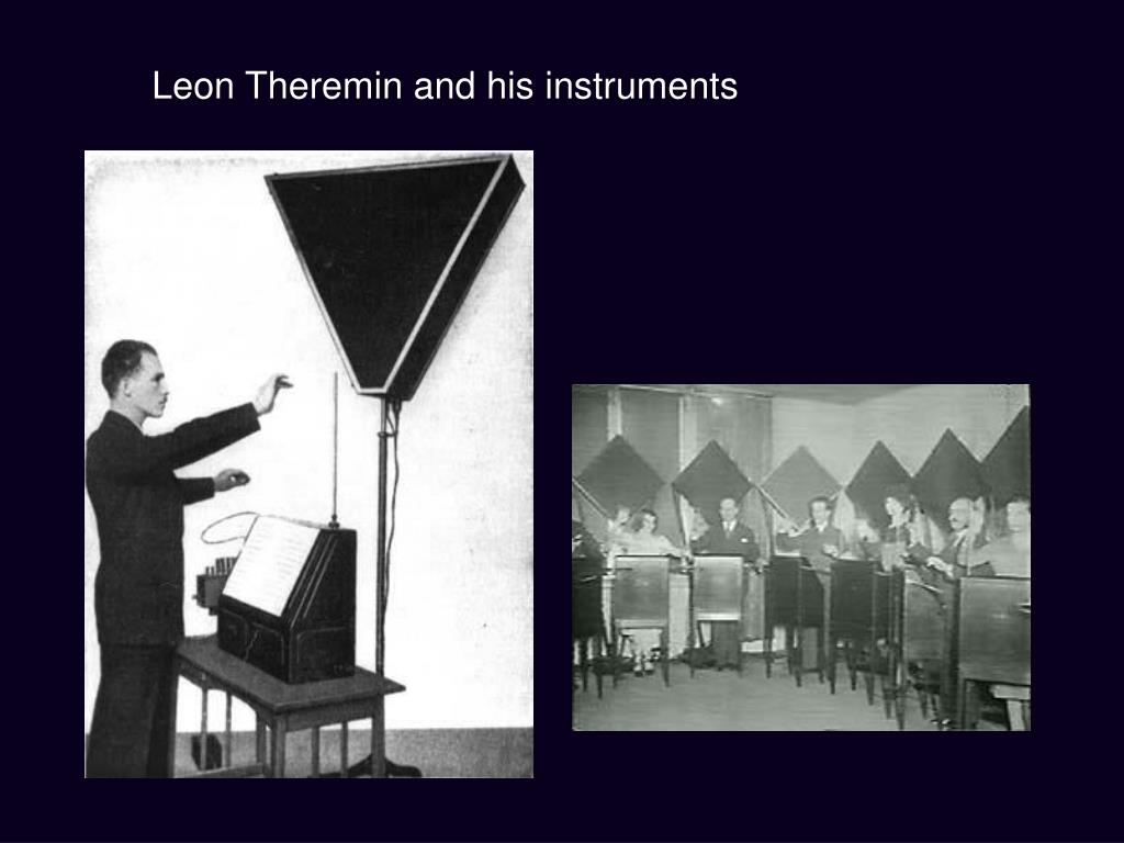 Leon Theremin and his instruments
