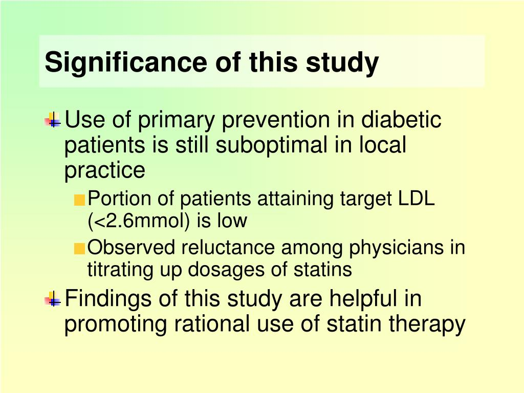 PPT - Statin Utilization in Primary Prevention in Patients ... - photo#6