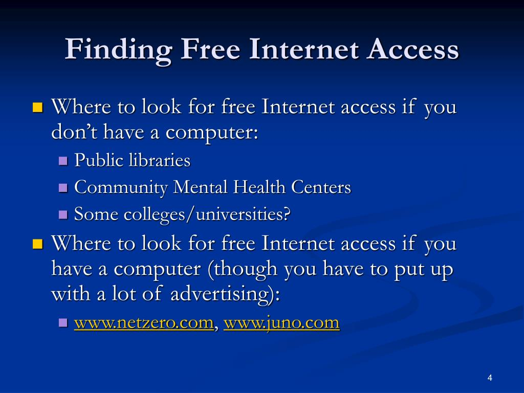 Finding Free Internet Access