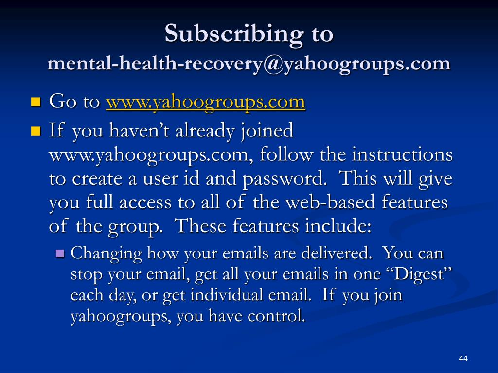Subscribing to