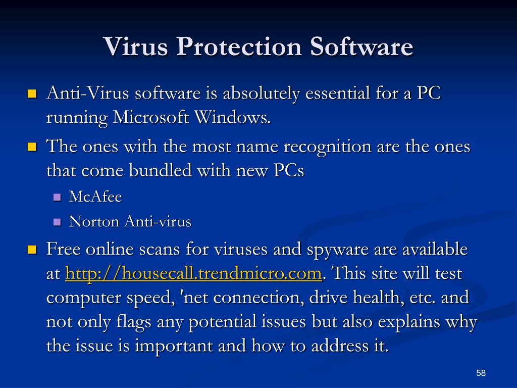 Virus Protection Software