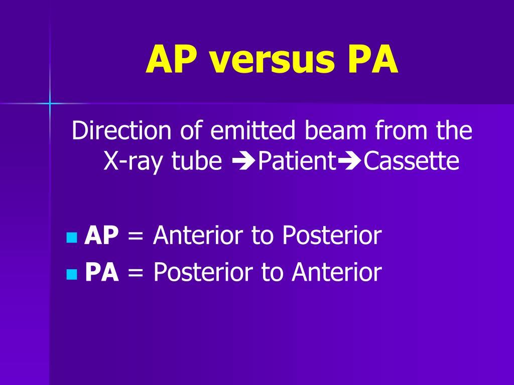 AP versus PA