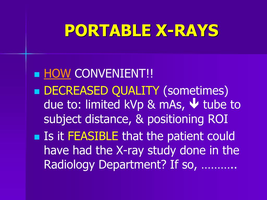 PORTABLE X-RAYS