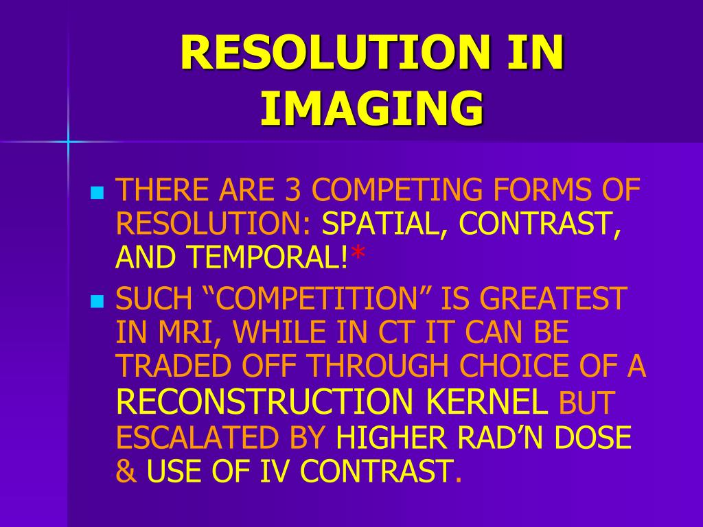 RESOLUTION IN IMAGING