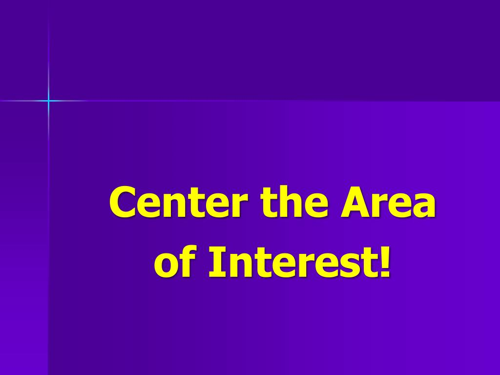 Center the Area