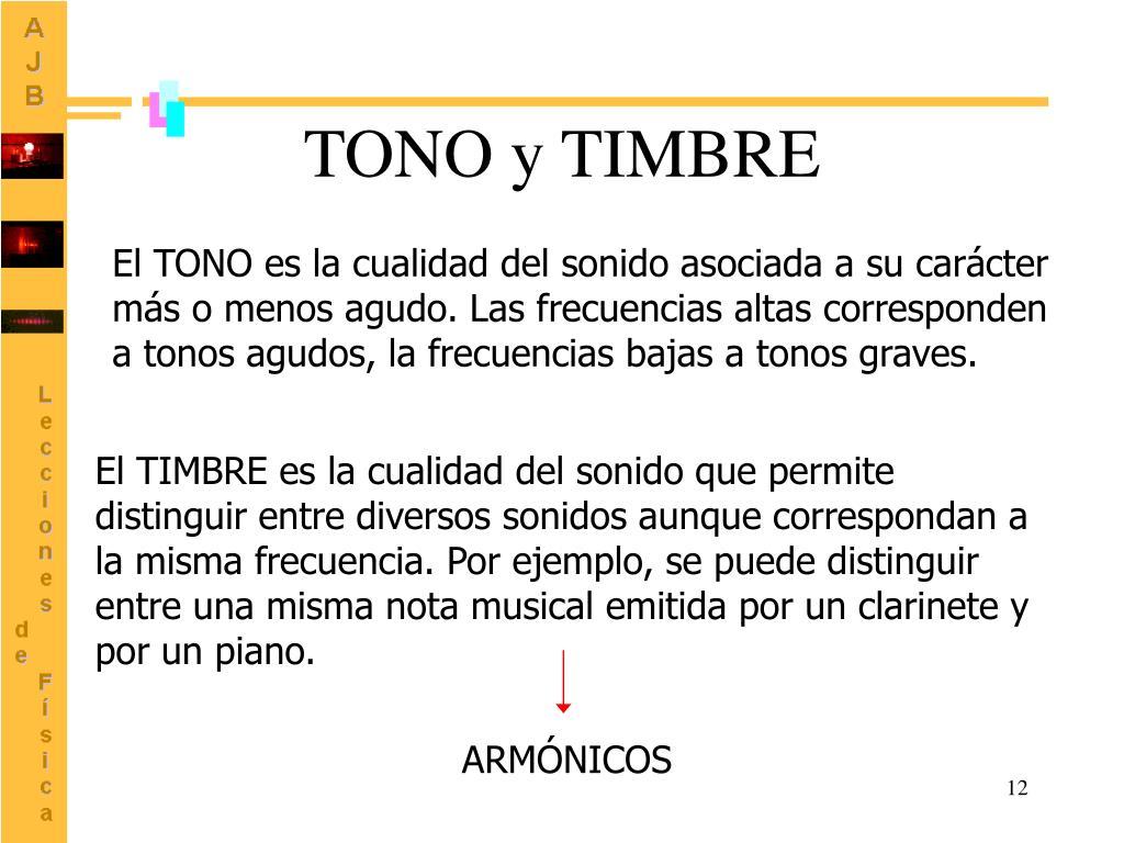 TONO y TIMBRE