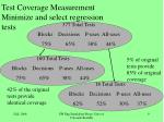 test coverage measurement minimize and select regression tests