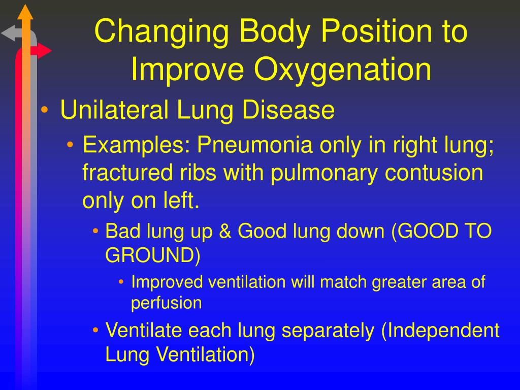 Changing Body Position to Improve Oxygenation