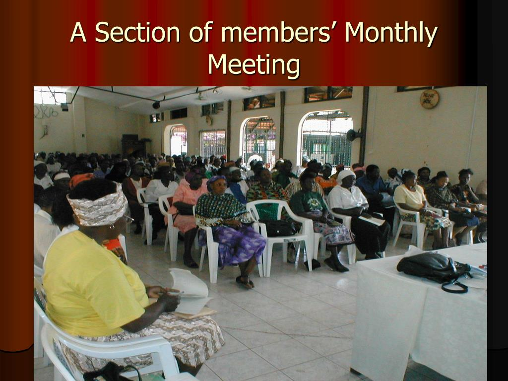 A Section of members' Monthly Meeting