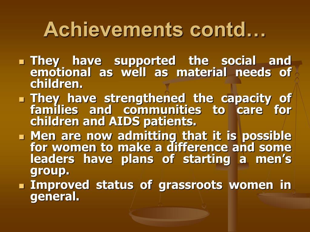 Achievements contd…
