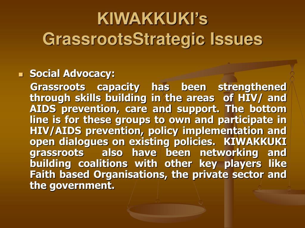 KIWAKKUKI's  GrassrootsStrategic Issues