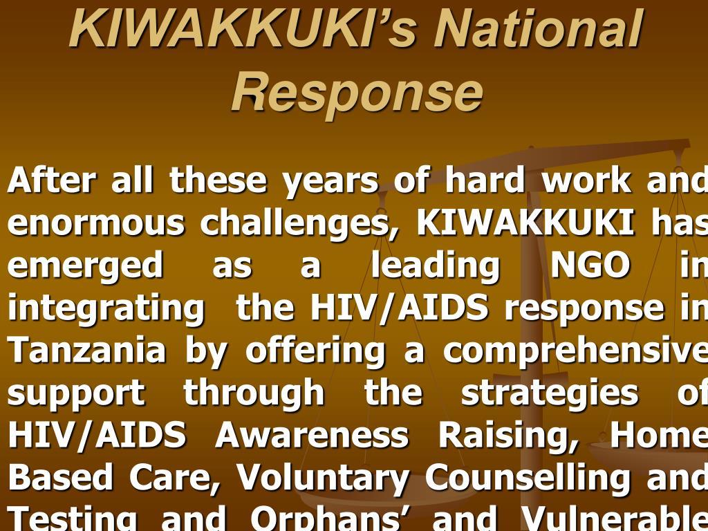 KIWAKKUKI's National Response