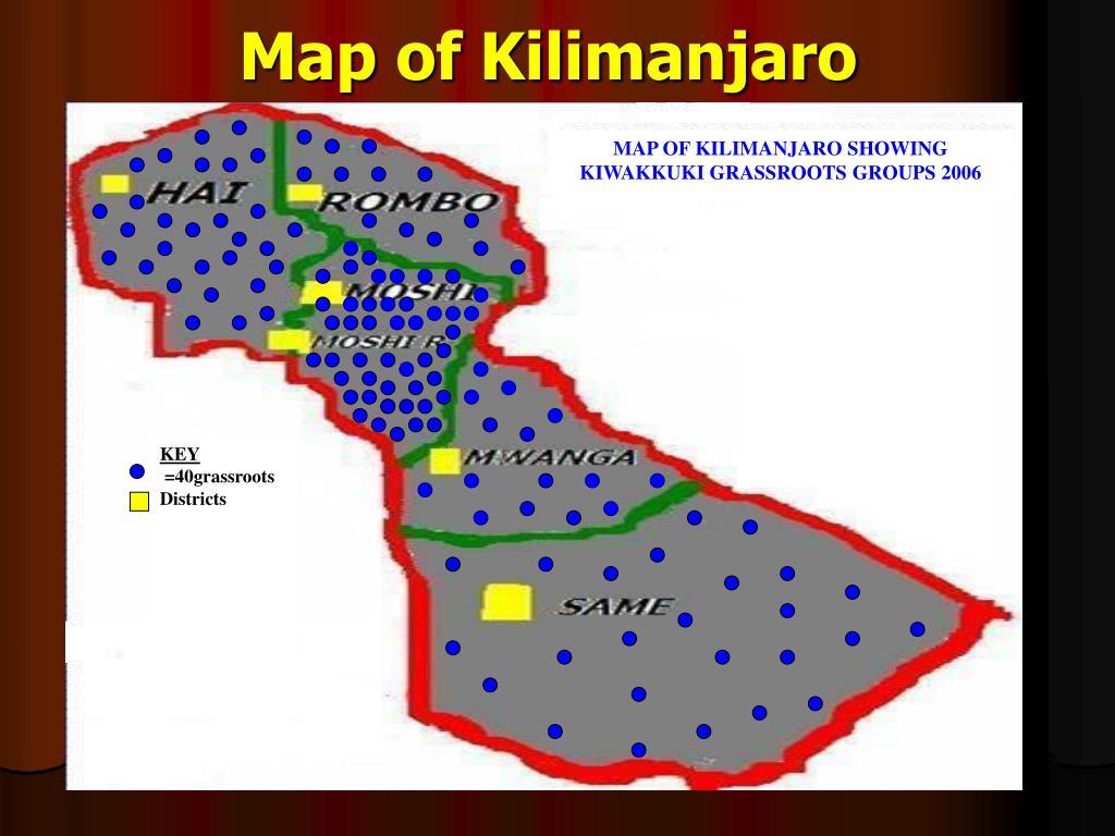 Map of Kilimanjaro