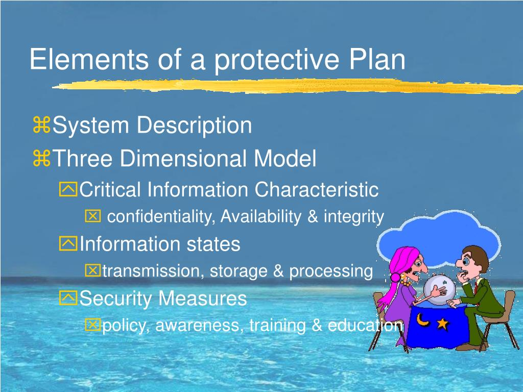 Elements of a protective Plan