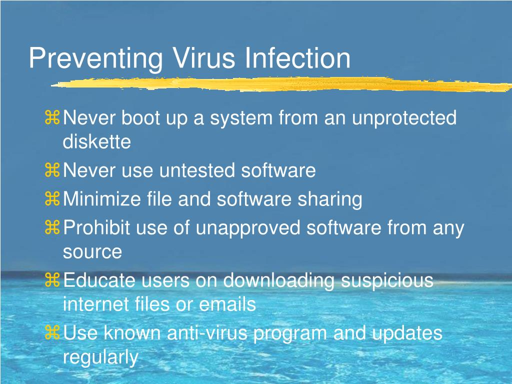 Preventing Virus Infection