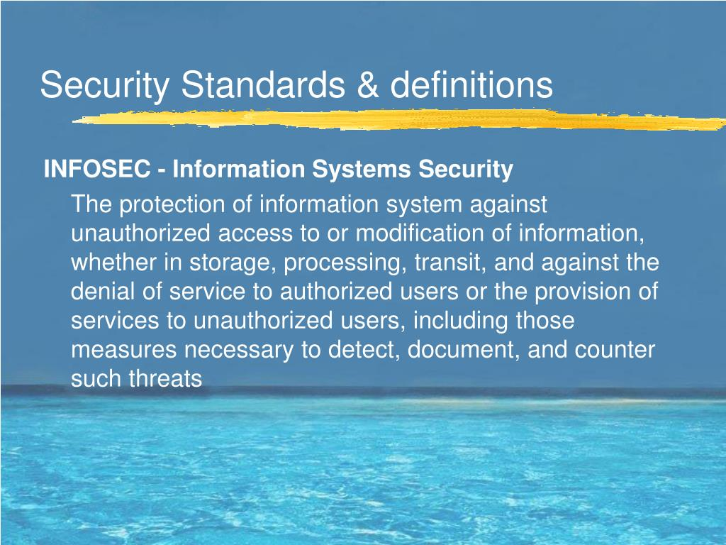 Security Standards & definitions