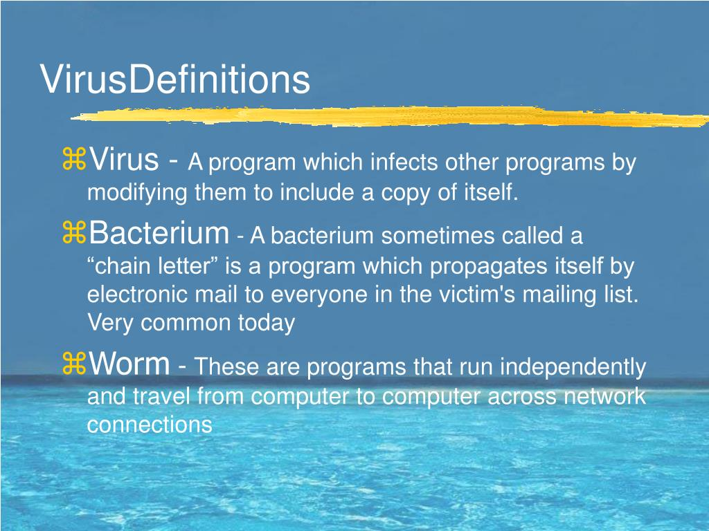 VirusDefinitions